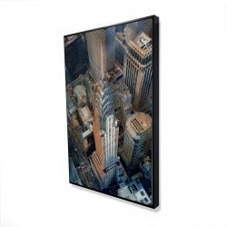 Framed 24 x 36 - 3D - Chrysler building at nyc