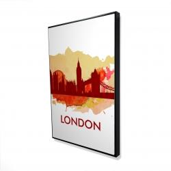 Framed 24 x 36 - 3D - Paint splash silhouette of london