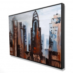 Framed 24 x 36 - 3D - Sullen day in the city