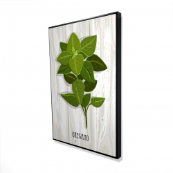 Framed 24 x 36 - 3D - Oregano on wood