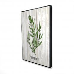 Framed 24 x 36 - 3D - Tarragon on wood
