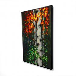 Framed 24 x 36 - 3D - Bicolored leaf birch 1