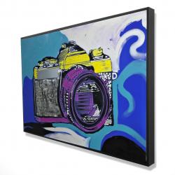 Framed 24 x 36 - 3D - Retro camera