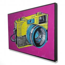 Encadré 24 x 36 - 3D - Appareil photo rétro coloré