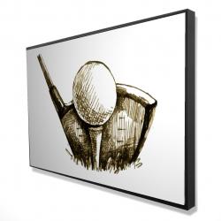 Framed 24 x 36 - 3D - Illustration of a golf ball
