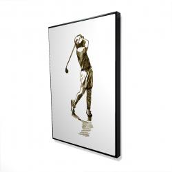 Framed 24 x 36 - 3D - Illustration of a golfer