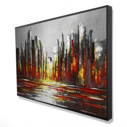 Framed 24 x 36 - 3D - Abstract red skyline