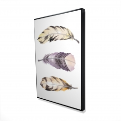 Framed 24 x 36 - 3D - Horizontal striped feather set