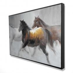 Framed 24 x 36 - 3D - Herd of wild horses