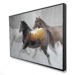 Framed 24 x 36 - 3D - Herd of wild horses
