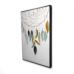 Framed 24 x 36 - 3D - Dreamcatcher with feathers
