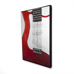 Framed 24 x 36 - 3D - Red electric guitar