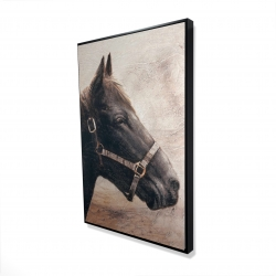 Framed 24 x 36 - 3D - Gallopin the brown horse