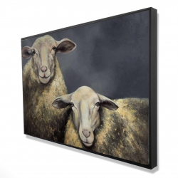 Framed 24 x 36 - 3D - Two sheeps