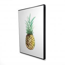 Framed 24 x 36 - 3D - Watercolor pineapple