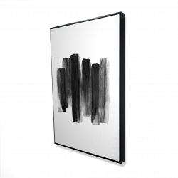 Framed 24 x 36 - 3D - Black shapes