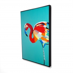 Framed 24 x 36 - 3D - Abstract flamingo