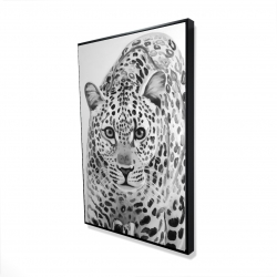 Framed 24 x 36 - 3D - Leopard ready to attack