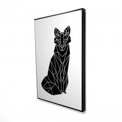 Framed 24 x 36 - 3D - Geometric fox