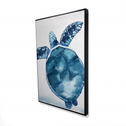 Framed 24 x 36 - 3D - Blue turtle