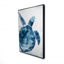 Framed 24 x 36 - 3D - Blue turtle
