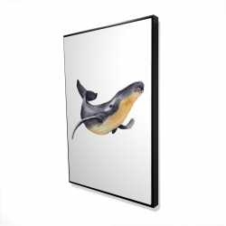 Framed 24 x 36 - 3D - Blue whale
