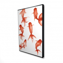 Framed 24 x 36 - 3D - Small red fishes