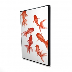 Framed 24 x 36 - 3D - Red fishes
