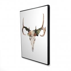Framed 24 x 36 - 3D - Deer skull with roses