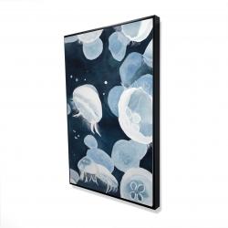 Framed 24 x 36 - 3D - Jellyfishs