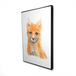 Framed 24 x 36 - 3D - Watercolor baby fox