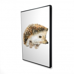 Framed 24 x 36 - 3D - Watercolor hedgehog