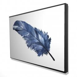 Framed 24 x 36 - 3D - Blue feather
