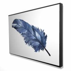 Framed 24 x 36 - 3D - Blue feather