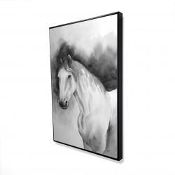 Framed 24 x 36 - 3D - Domino horse