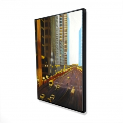 Framed 24 x 36 - 3D - New york city 9th street
