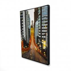 Framed 24 x 36 - 3D - San francisco by night