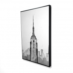 Framed 24 x 36 - 3D - Empire state building