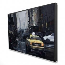 Framed 24 x 36 - 3D - New york in the dark