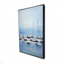 Framed 24 x 36 - 3D - Boats at the dock