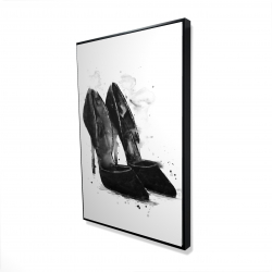 Framed 24 x 36 - 3D - Black pumps