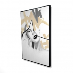 Framed 24 x 36 - 3D - Divided woman