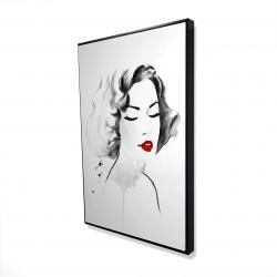 Framed 24 x 36 - 3D - Watercolor woman