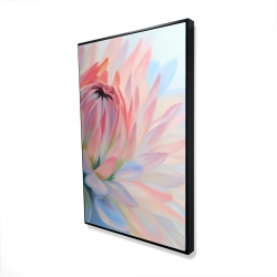 Framed 24 x 36 - 3D - Lotus pastel flower
