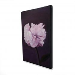 Framed 24 x 36 - 3D - Beautiful purple flower