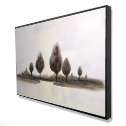 Framed 24 x 36 - 3D - Abstract landscape of trees