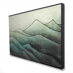 Encadré 24 x 36 - 3D - Montagnes en tons de gris