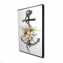 Framed 24 x 36 - 3D - Anchor with flowers