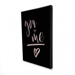 Framed 24 x 36 - 3D - You + me