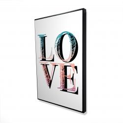 Encadré 24 x 36 - 3D - Amour coloré
